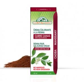 Crema colorante a la Henna - Cubre Canas - Caoba - Corpore Sano