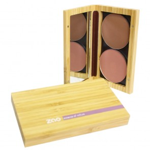 Zao Makeup - Estuche de Bambú Multifunción Recargable
