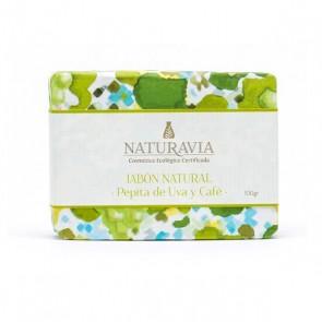 Jabón Exfoliante de Café y Pepita de Uva - Naturavia
