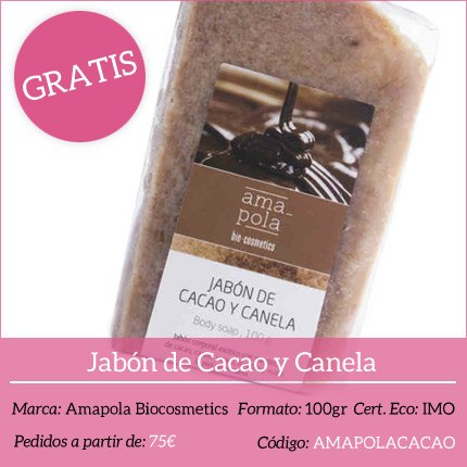 Regalo - Jabón de Cacao y Canela Amapola Biocosmetics