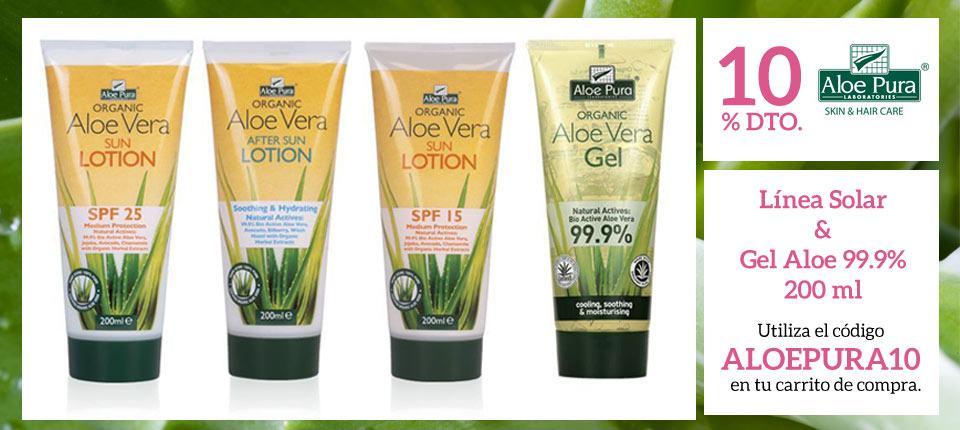 Promoción 10% Aloe Pura formatos 200ml