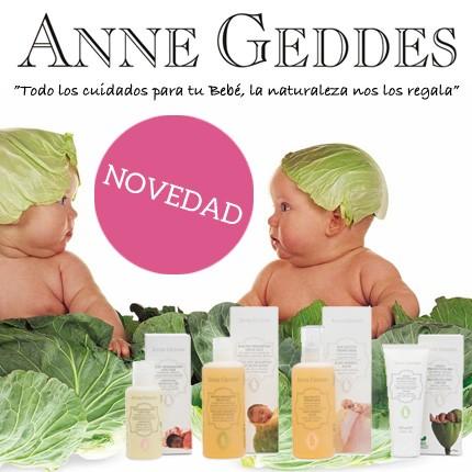 La Cosmética de Anne Geddes para el Bebé y la Mamá