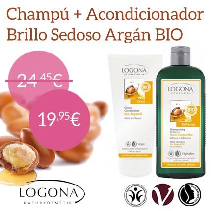Champú + Acondicionador Brillo Argán Bio de Logona