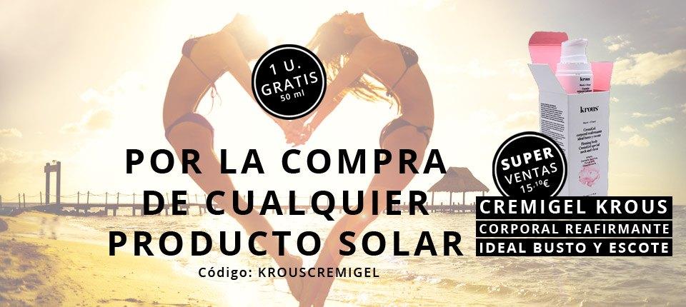 1 x Cremigel de Krous por la compra de cualquier producto solar