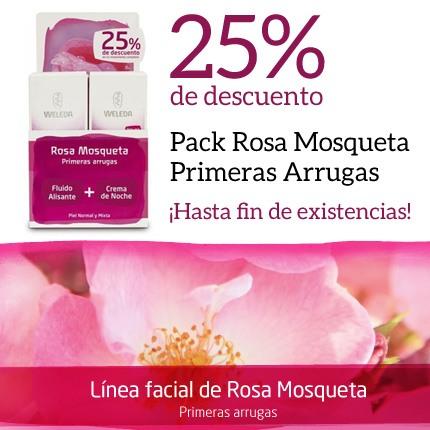 25% de descuento en el Pack de Weleda Rosa Mosqueta Primeras Arrugas