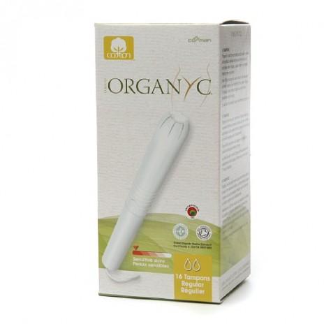 Tampón Regular con Aplicador de Algodón 100% Orgánico  - Organyc