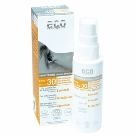 Eco Cosmetics Aceite Protector Solar Facial Transparente Spray FPS 30