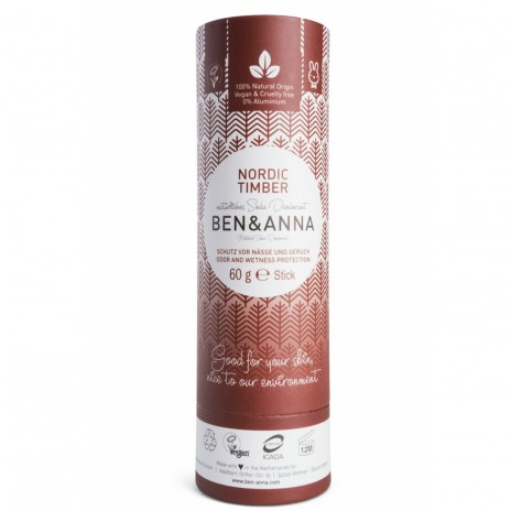 Ben & Anna Desodorante Natural de Bicarbonato en Stick Nordic Timber
