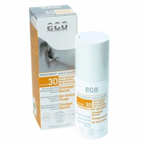 Eco Cosmetics Gel Protector Solar Facial Transparente FPS 30