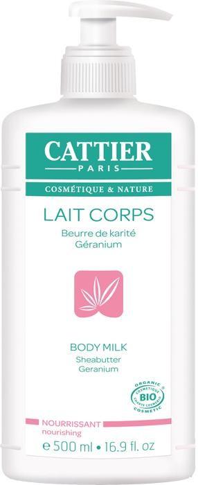 Leche Hidratante Nutritiva Karité y Geranium 500ml - Cattier