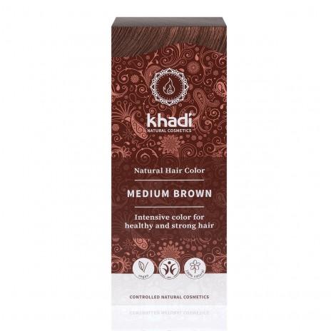Khadi Colorante Capilar en Polvo 100% Vegetal Castaño Medio