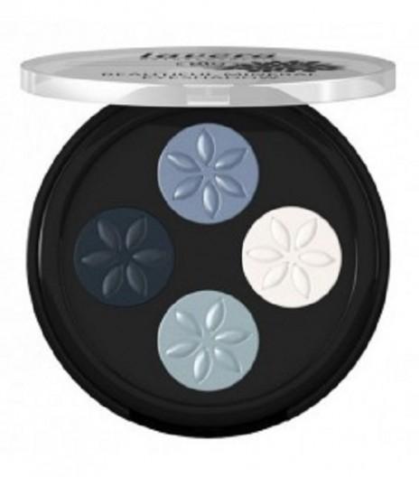 Lavera Sombra Ojos Cuatro Mineral Blue Platinum 07