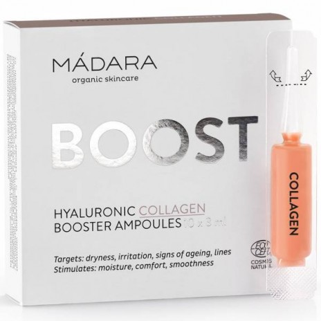 Mádara Ampollas Hidratantes Hyaluronic Collagen Booster