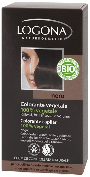 Colorante Capilar en Polvo - Henna Negro - Logona