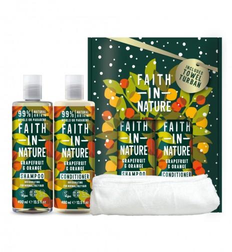 Faith in Nature Pack Champú y Acondicionador Pomelo y Naranja