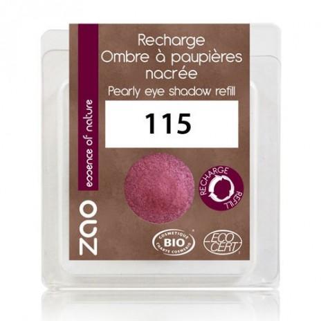 Zao Makeup - Recarga Sombra de Ojos Nacarada 115 Rubis
