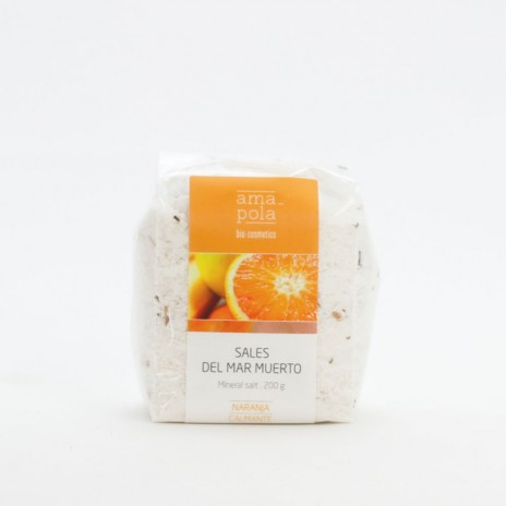 Amapola Biocosmetics Sales del Mar Muerto de Naranja