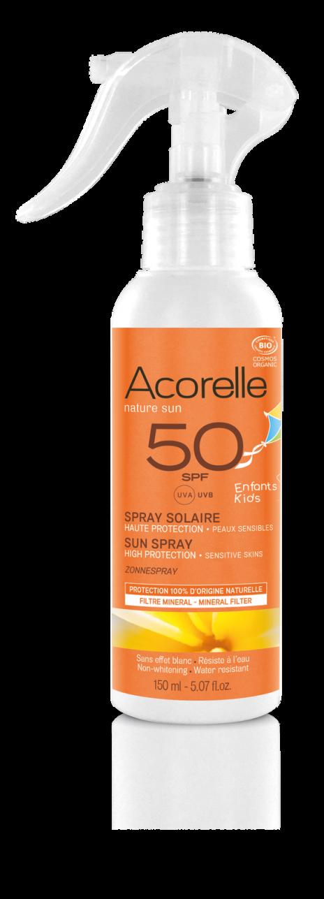Acorelle  Spray solar niños SPF50, 150ml