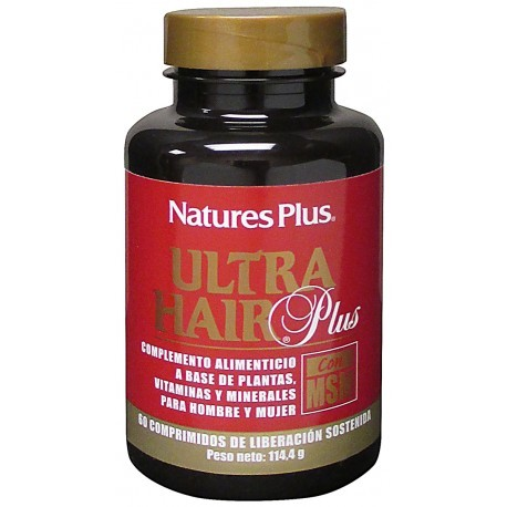 Nature's Plus Ultra Hair Plus Con Msm
