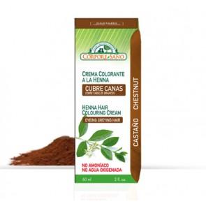 Crema colorante a la Henna - Cubre Canas - Castaño - Corpore Sano
