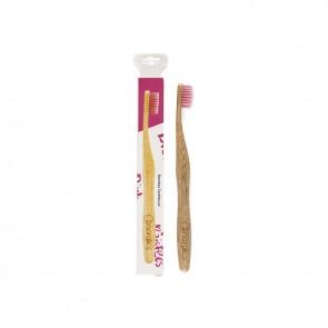 Nordics Oral Care Cepillo Dental Bambú Adultos Rosa