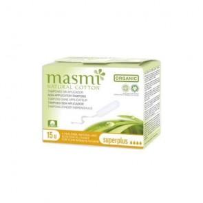 Masmi - Tampón superplus sin aplicador algodón ECO Masmi, 15 unidades