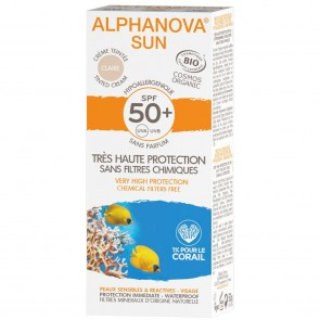 Alphanova Crema Solar Facial Hipoalergénica FPS 50+ con Color Claire