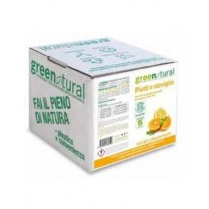 Green Natural - Detergente Platos Manos Naranja & Menta - - Ecobio