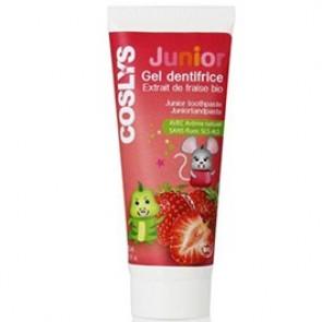Coslys Dentífrico Infantil con Fresas Bio sin Fluor y sin Sodium Lauryl Sulfate