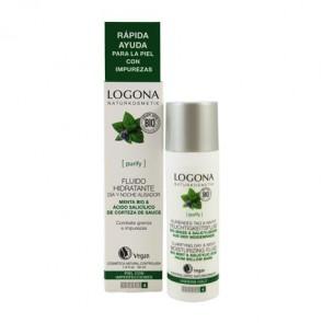 Logona - Fluido Hidratante Día & Noche Menta Bio & Ácido Salicílico