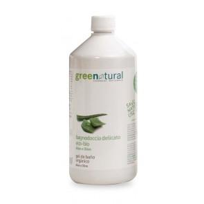 Green Natural - Gel de Baño Delicado Aloe Vera y Aceite de Oliva