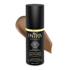 Inika Organic Base de Maquillaje Líquida con Ácido Hialurónico Toffee