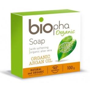 Biopha Organic Jabón En Pastilla con Aceite de Argán y Aloe Vera