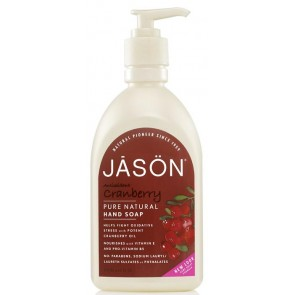 Jason Jabón Manos y Cara Arándano Rojo