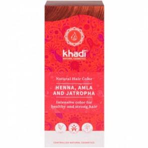 Khadi Tinte Vegetal Henna con Amla y Jatropha