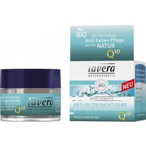 Lavera Crema de Noche Anti-Edad Q10 Basis Sensitiv