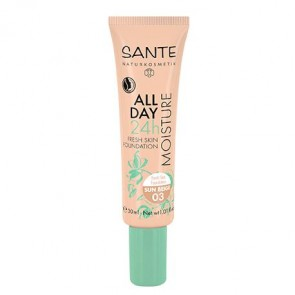 Sante - Maquillaje fluido hidratante 24h 03 Sunny Beige