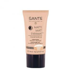 Sante - Maquillaje fluido mate evermat 02 Sand