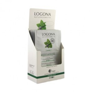 Logona - Mascarilla Purificante Menta Bio & Ácido Salicílico