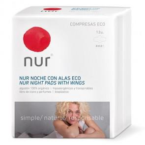 Nur Compresas Eco de Noche Ultrafinas Con Alas
