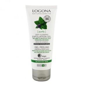 Logona -  Peeling Gel Purificante 100ml Menta Bio & Ácido Salicílico
