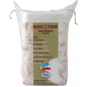 Bocoton - Toallitas Maxi de Algodón Bio para Bebé