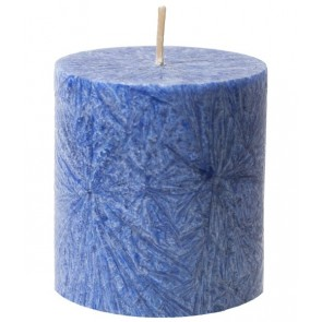 Kerzenfarm Vela Pilar Pequeña Azul