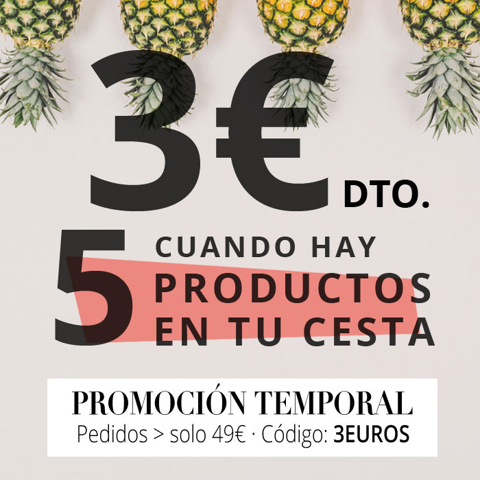 3€ de descuento cuando compras 4 productos o más