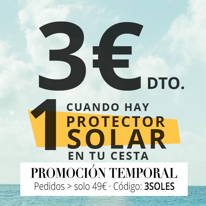 3€ de descuento cuando compras 1 solar o más